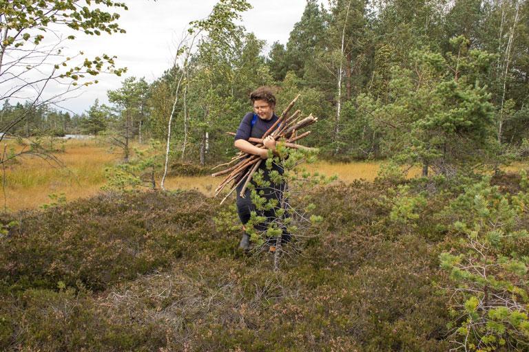 Bek Berger in the woods